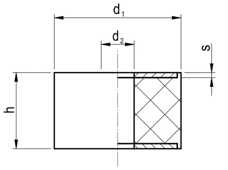 Podkładki Dystansowe zPłytkami Metalowymi Typu PDC