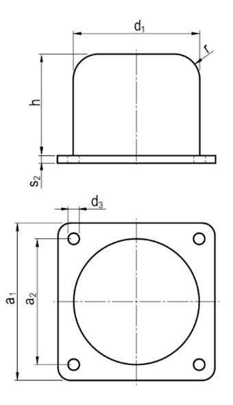 Odbój Gumowo- Metalowy Typu Z-K