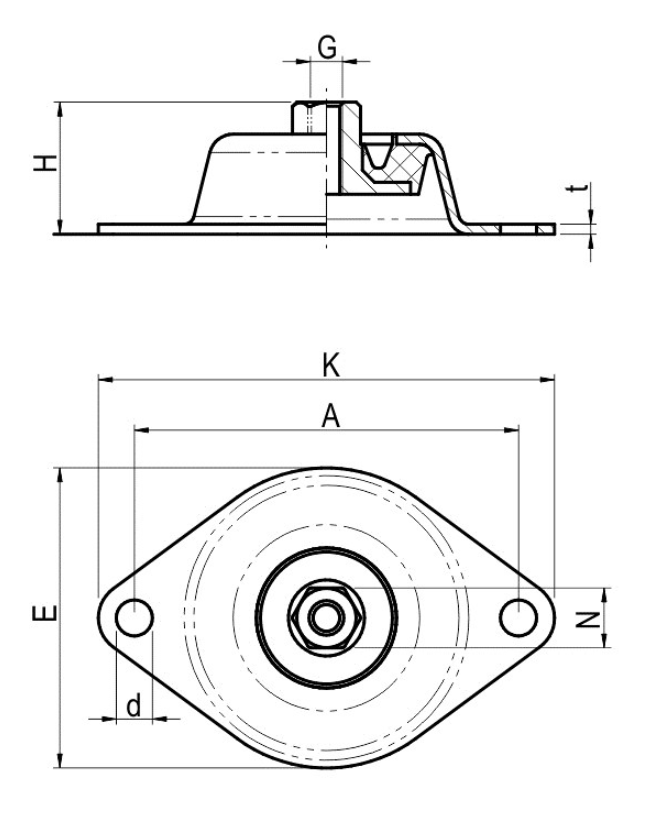 Wibroizolator Typu WSW