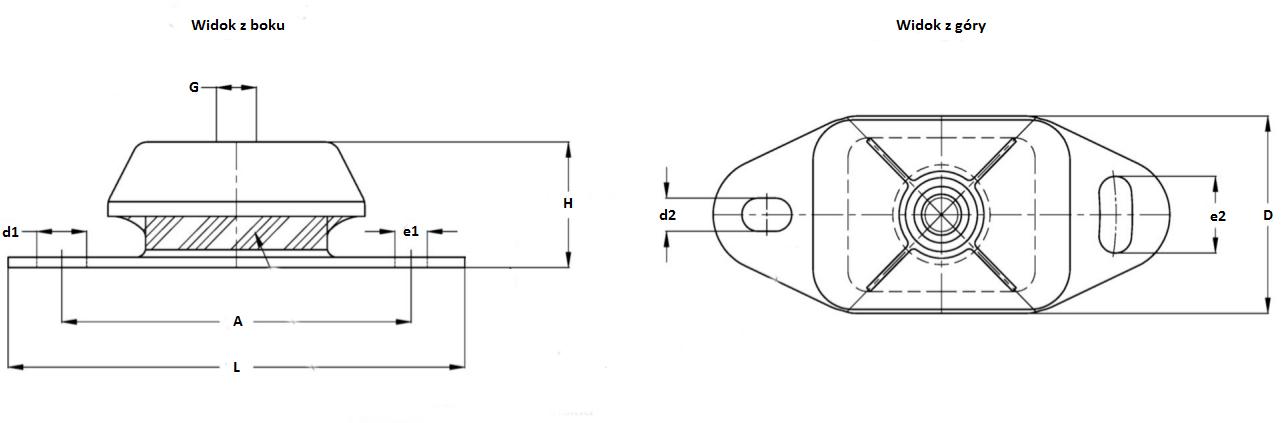 Wibroizolator okrętowy